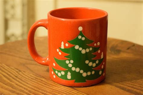 vintage waechtersbach red christmas tree holiday coffee