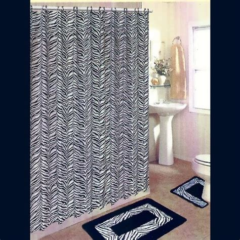black and white bathroom rug set black and white zebra 15 bathroom set 2 rugs mats 1 fabric shower curtain 12 fabric