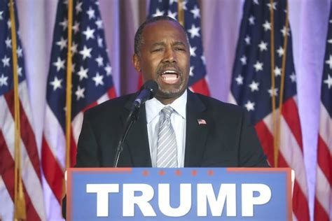 donald trump us president ben carson endorses donald trump after praying and burying