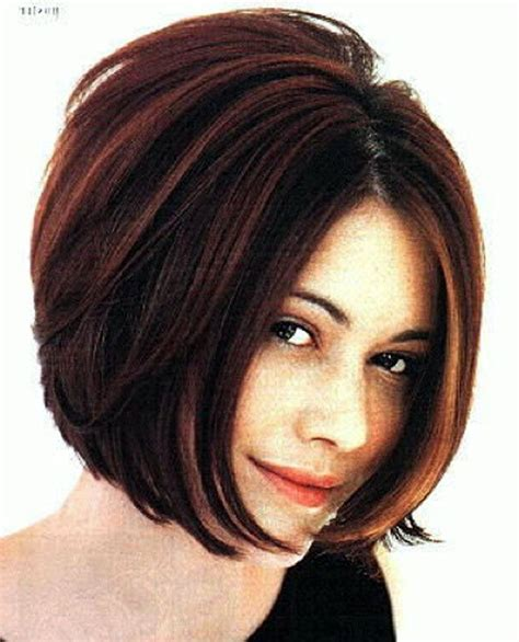 long layered wedge bobs stacked bob haircut w chunky highlights back view i m