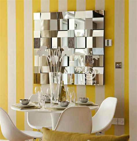 modern mirrored wall decor beveled polydirectional square
