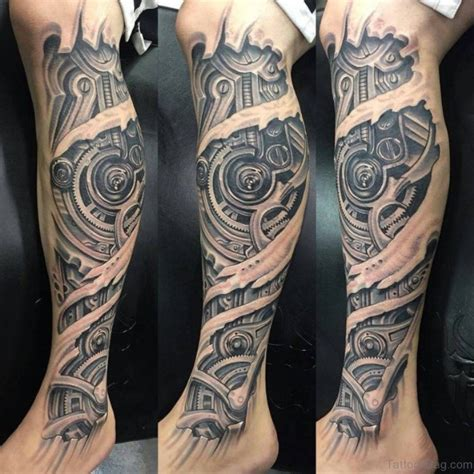 calf tattoos designs 60 trendy biomechanical tattoos on leg