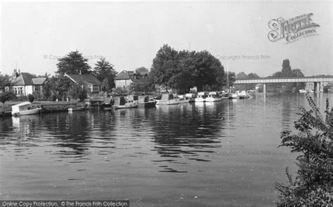 river thames map staines staines the river thames c 1960 francis frith