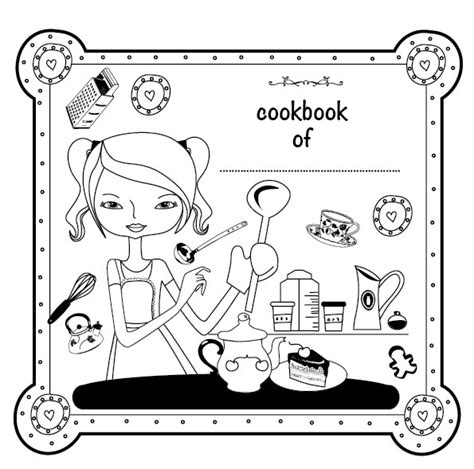 printable cookbook template krokotak let s make a sticker cookbook for