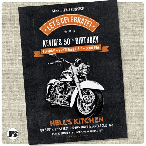 printable birthday cards motorcycle motorcycle biker birthday invitation vintage motorcycle