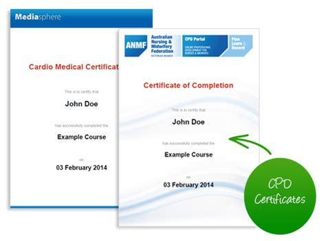 cpd certificate template features