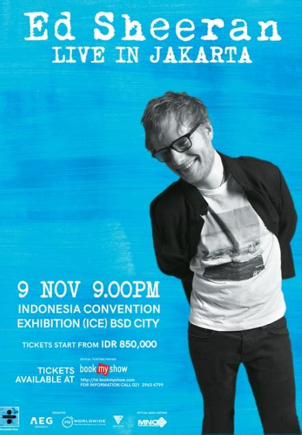 bookmyshow indonesia career siap siap ed sheeran akan konser di indonesia zetizen com