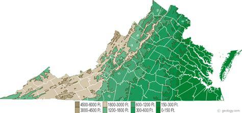 virginia topographic map virginia physical map and virginia topographic map