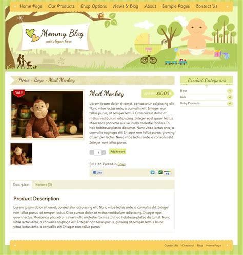 blogger ecommerce themes mommy blog wordpress by dtbaker themeforest