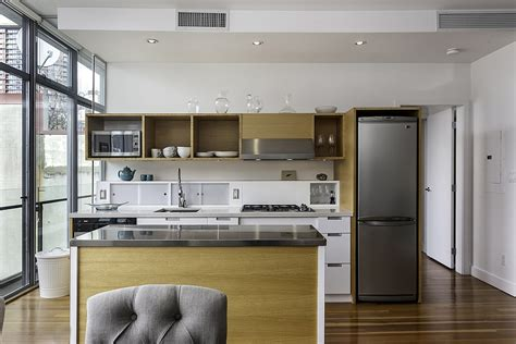 Ergonomic Kitchen Design dramatic views and a snazzy interior shape loft style
