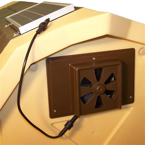 Dog House Solar Powered Exhaust Fan 9 5 Quot X 6 5 Quot Ebay