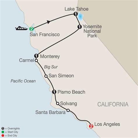usa map los angeles san francisco california tour packages globus 174 tours