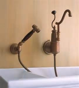 Wall Mounted Kitchen Faucet With Sprayer Traditional Kitchen Faucets For A Country Kitchen