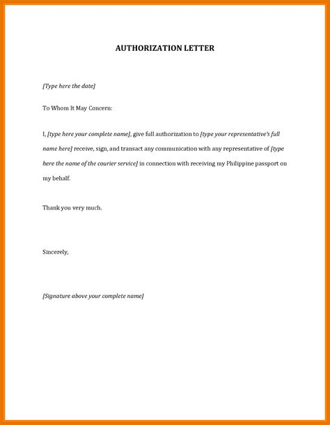 Attestation Authorization Letter sle authorization letter certificate attestation image