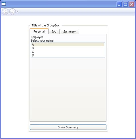 layout container for windows presentation foundation wpf use a groupbox control to create a container for a