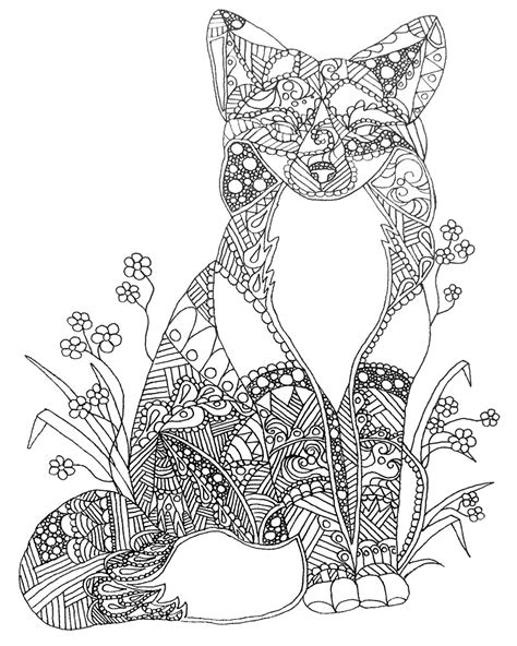 sexy anime fox coloring pages coloring pages adult coloring pages animals fox download adult coloring