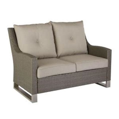 hton bay broadview patio loveseat with sunbrella