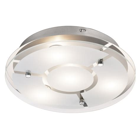 küchenle led shop kichler 12 in w chrome led flush mount light at lowes