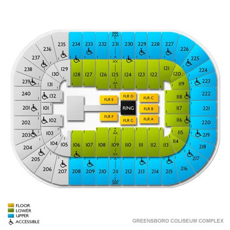 greensboro coliseum seating view greensboro coliseum complex tickets greensboro coliseum