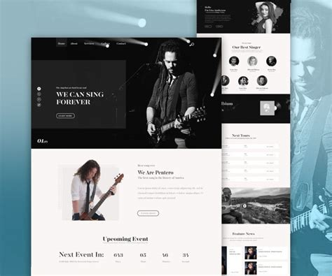 Music Band Website Psd Template Download Download Psd Metal Band Website Template
