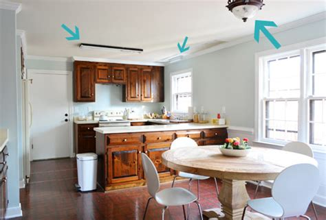 over the sink fluorescent light fixture three new kitchen lights young house love