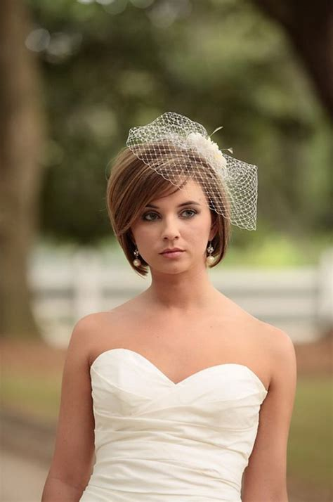 bob hairstyles with veil 20 perfect wedding hairstyles for short hair