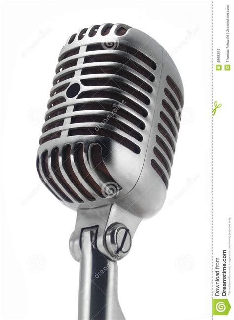 vintage microphone on white stock photo image 4568394