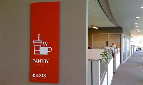 Pantry Signage by Sap America Corporate Headquarters Segd