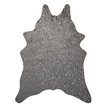 Cowhide Rug Silver - ayi metallic faux cowhide rug grey silver solid rugs