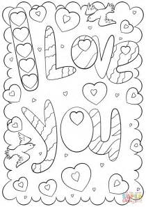 i you coloring pages i you doodle card coloring page free printable