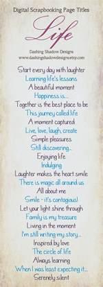 scrapbook page title ideas project life pinterest