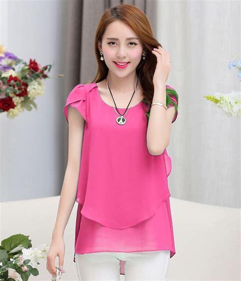New Blouse Spandek Ceruty Korea chiffon blouse korean lace henley blouse