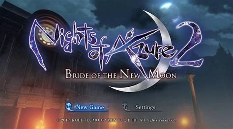Kaset Nintendo Switch Nights Of Azure 2 Of The New Moon nights of azure 2 of the new moon handheld players