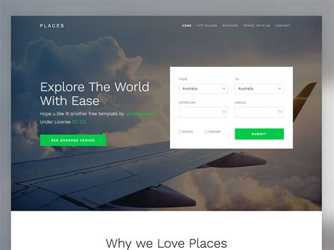 Places Free Bootstrap 4 Template For Travel Agency Uicookies Bootstrap 4 Templates Free