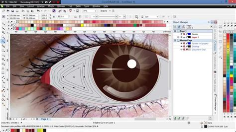 vector pattern corel draw x6 how to create a vector eye with coreldraw x6 membuat