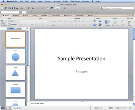 Powerpoint Outline View Mac by Normal View In Powerpoint 2011 For Mac
