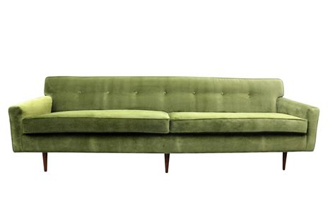 mid century loveseat gorgeous green velvet mid century modern sofa at 1stdibs