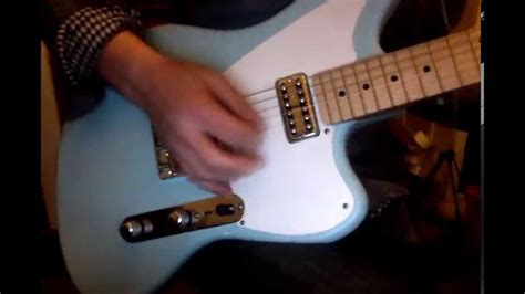 waterslide guitars telemaster  sonic blue  tv jones