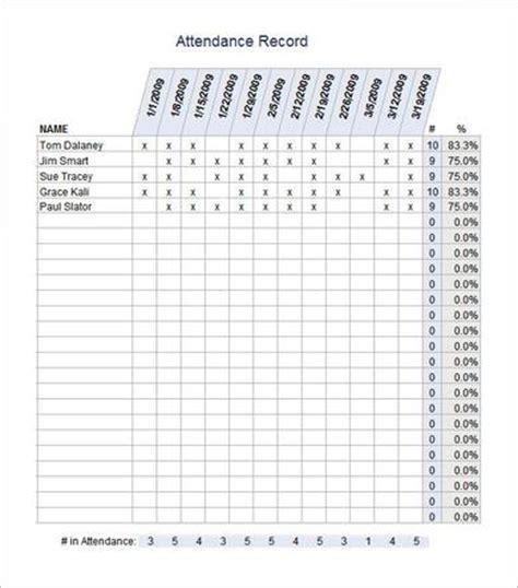 46 best attendance sheet template exles for classroom