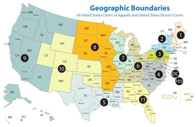 Map Of The United States District Courts | united states district court wikipedia