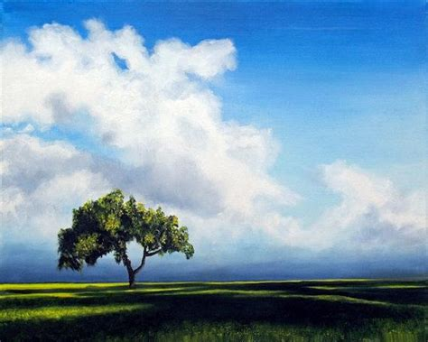 lone tree landscape print standing alone signed by