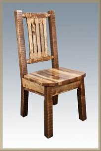 Kitchen Dining Chairs Farmhouse Style Dining Chairs Amish Made Kitchen Chair Homestead Lodge Rustic Ebay
