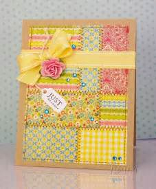 handcrafted greeting card quilt design blocks of