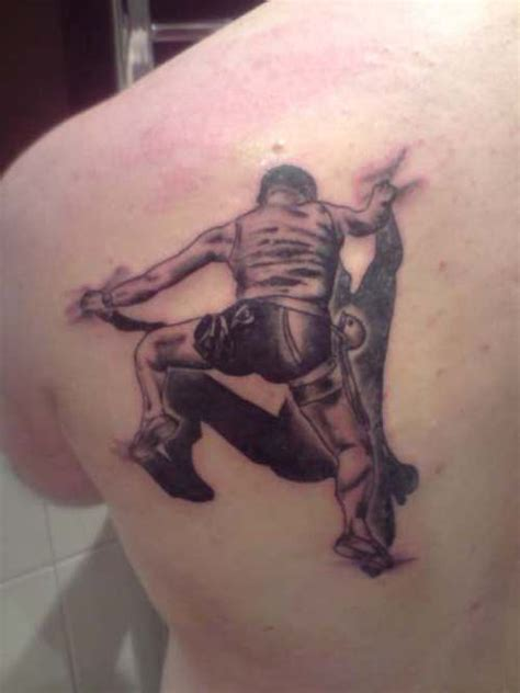 my dads new tattoo rock climber tattoo tattoo picture
