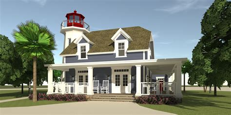 coastal house plan with quot lighthouse quot 3 bedrms 2 5 baths