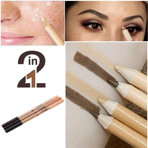 Pencil Mn 2 In 1 Eyeliner Eyebrow Concealer Pencil Terjamin 2 in 1 makeup waterproof eyebrow pencil base makeup