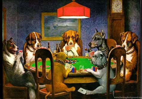 dogs playing poker wallpapers wallpapers cave desktop
