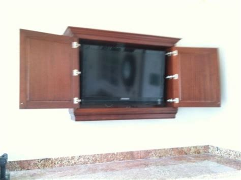 outdoor tv armoire 18 best flat screen wall cabinet images on pinterest