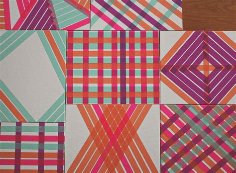 pattern tape wall art diy washi tape art a study on patterns and color a