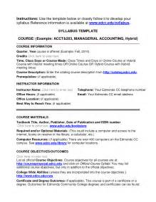 College Syllabus Template best photos of sle syllabus template sle